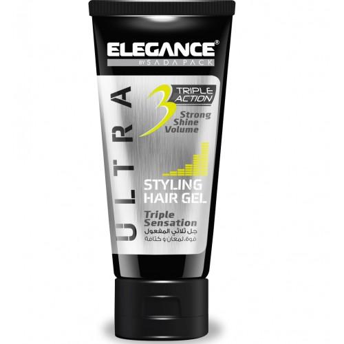 Elegance Triple Action Gel Yellow - Гель для укладки волос тройного действия 150 мл