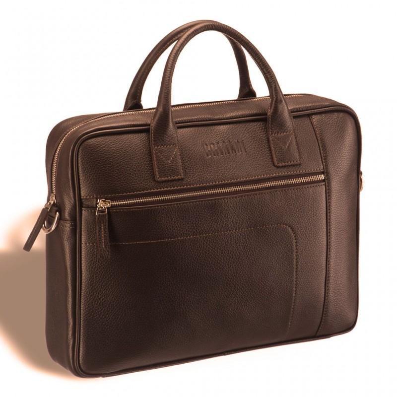 Классическая деловая сумка для документов BRIALDI Rochester (Рочестер) relief hazel