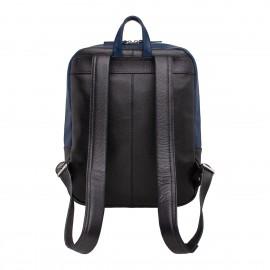 Мужской рюкзак из натуральной кожи Faber Dark Blue/Black