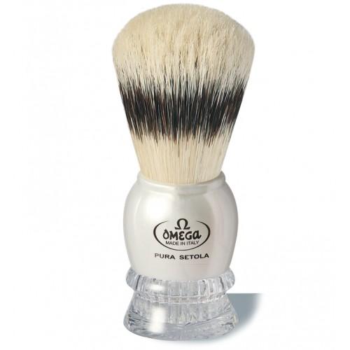 Omega 11776 - Помазок для бритья, Щетина кабана, Пластик.