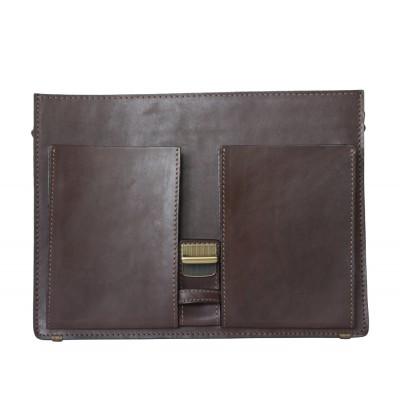 Мужской портфель из натуральной кожи Carlo Gattini Luriano brown (арт. 2009-31)