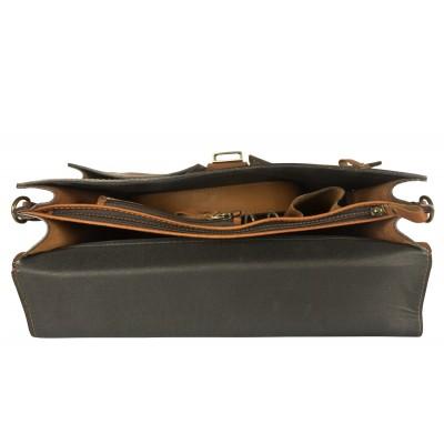 Кожаный портфель мужской Carlo Gattini Soffranco brown (арт. 2025-31)