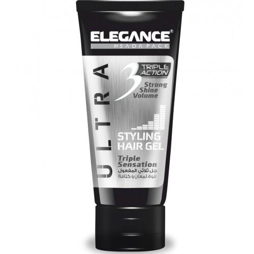 Elegance Triple Action Gel White - Гель для укладки волос тройного действия 150 мл