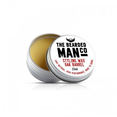 The Bearded Man Company - Воск для усов Oak Barrel (Дубовая бочка), 15 мл