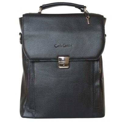 Кожаный портфель мужской Strutto black (арт. 2015-01)