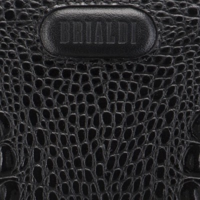 Мужской клатч BRIALDI Bell (Белл) croco black