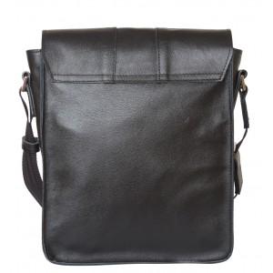 Кожаная мужская сумка через плечо Varese black (арт. 5001-01)