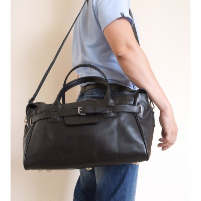 Кожаная дорожно-спортивная сумка Carlo Gattini Adamello black (арт. 4003-01)