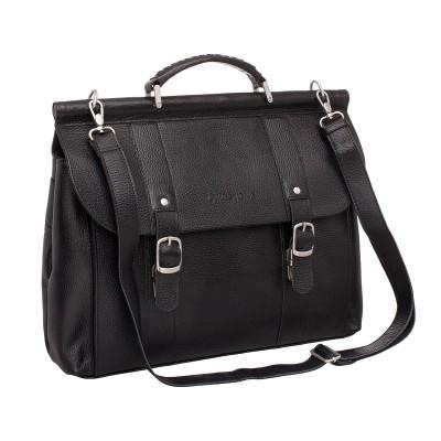 Кожаный портфель мужской Lakestone Garston Black