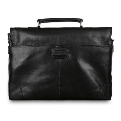 Мужской кожаный портфель Ashwood Leather Elliot Black