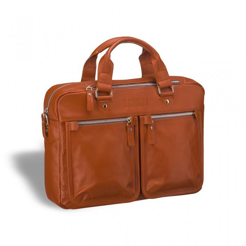 Деловая сумка для документов BRIALDI Parma (Парма) whiskey