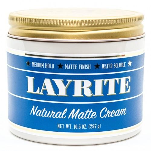 Layrite Natural Matte Cream - Матовый крем для укладки волос средней фиксации 297 гр
