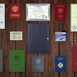 Папка для документов А5 мягкой формы BRIALDI File (Файл) relief navy