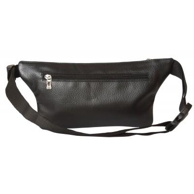 Кожаная поясная сумка Curone black (арт. 7001-01)
