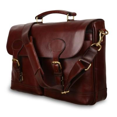 Мужской кожаный портфель Ashwood Leather Jon Brandy