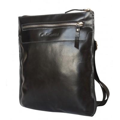 Кожаная мужская сумка через плечо  Saltara black (арт. 5021-05)