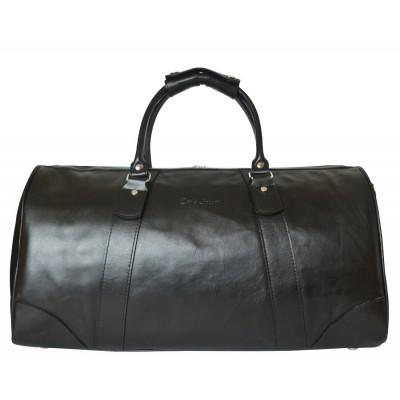 Кожаная дорожная сумка Carlo Gattini Gallinaro black (арт. 4026-01)