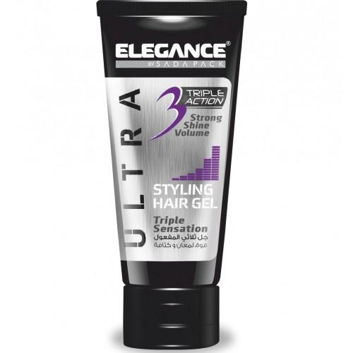 Elegance Triple Action Gel Purple - Гель для укладки волос тройного действия 150 мл