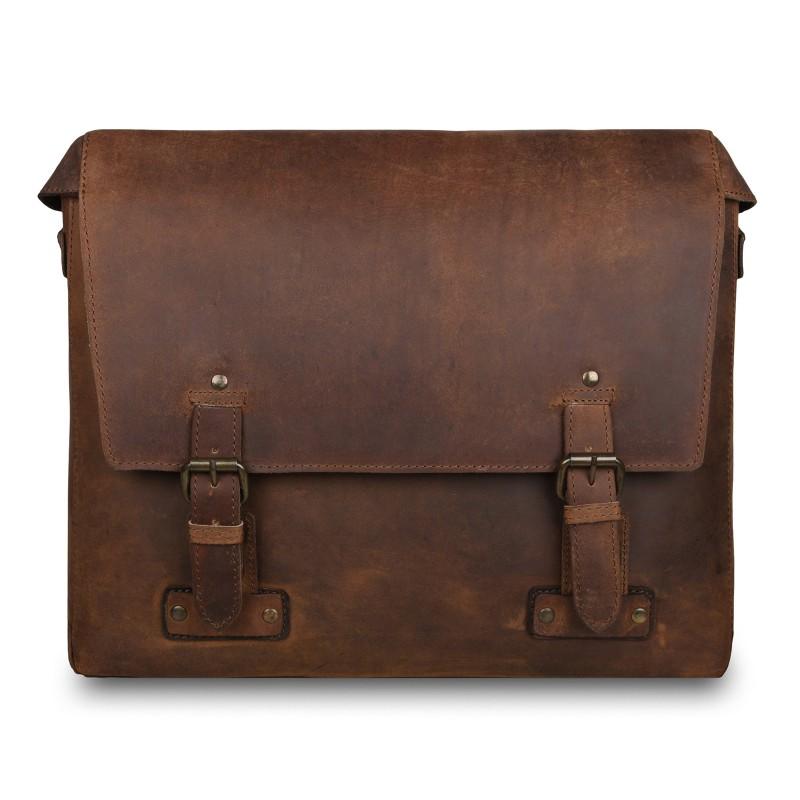 Кожаная мужская сумка через плечо Ashwood Leather  Memphis Tan