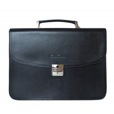 Мужской кожаный портфель Carlo Gattini Remedello black (арт. 2021-30)