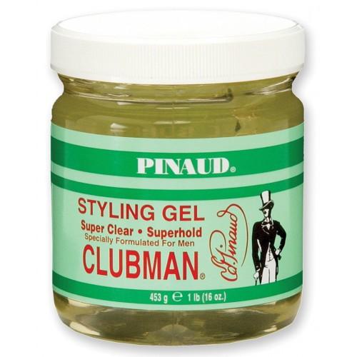 Clubman Super Clear Gel - Гель для укладки средней фиксации (прозрачный) 480 мл