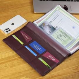 Папка для документов А4 мягкой формы BRIALDI Memory (Мемори) relief cherry