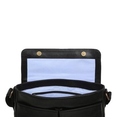 Кожаная сумка через плечо Ashwood Leather Blake Black