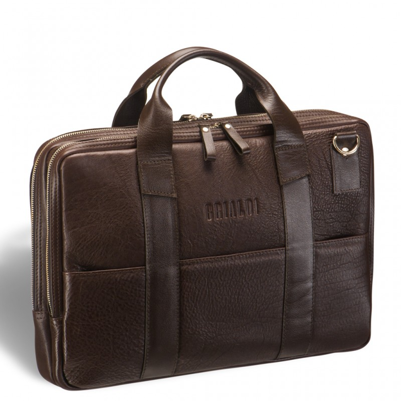 Деловая сумка BRIALDI Grand Locke (Гранд Локк) brown