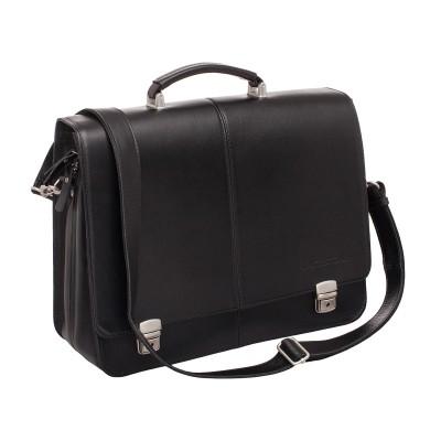 Мужской портфель из натуральной кожи Lakestone Howard Black