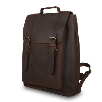 Мужской рюкзак из натуральной кожи Ashwood Leather Ryan Brown