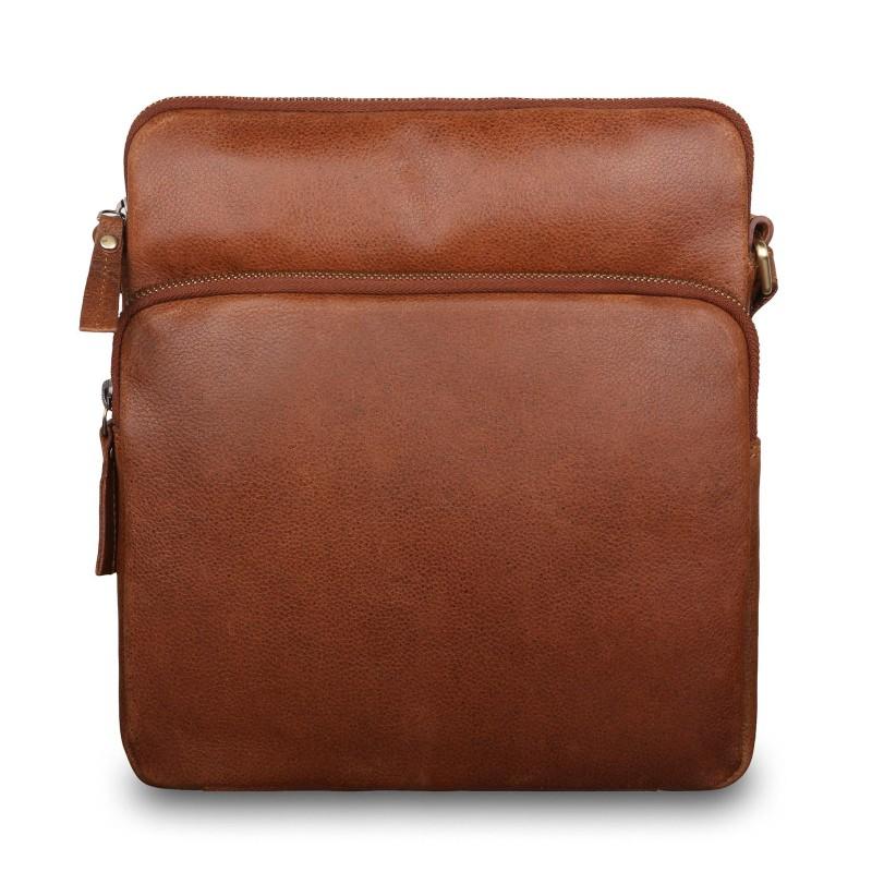 Сумка через плечо из натуральной кожи Ashwood Leather M-52 Tan