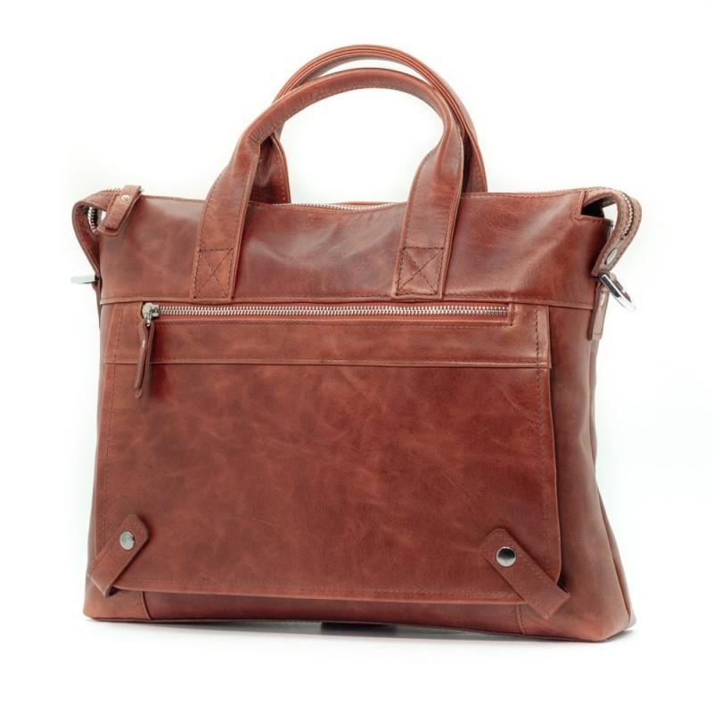 Мужская сумка из кожи Cioccolato Rosso