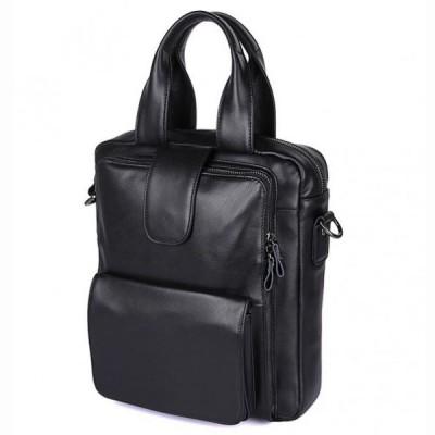 Кожаная мужская сумка через плечо Roderick Nero
