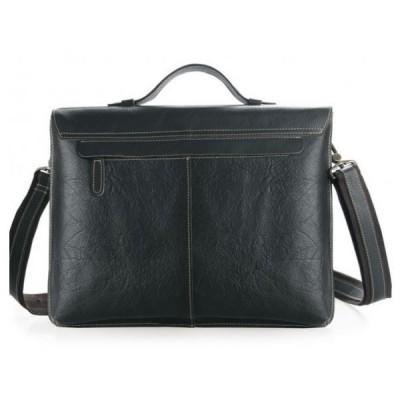 Мужской портфель из натуральной кожи Ancon Nero