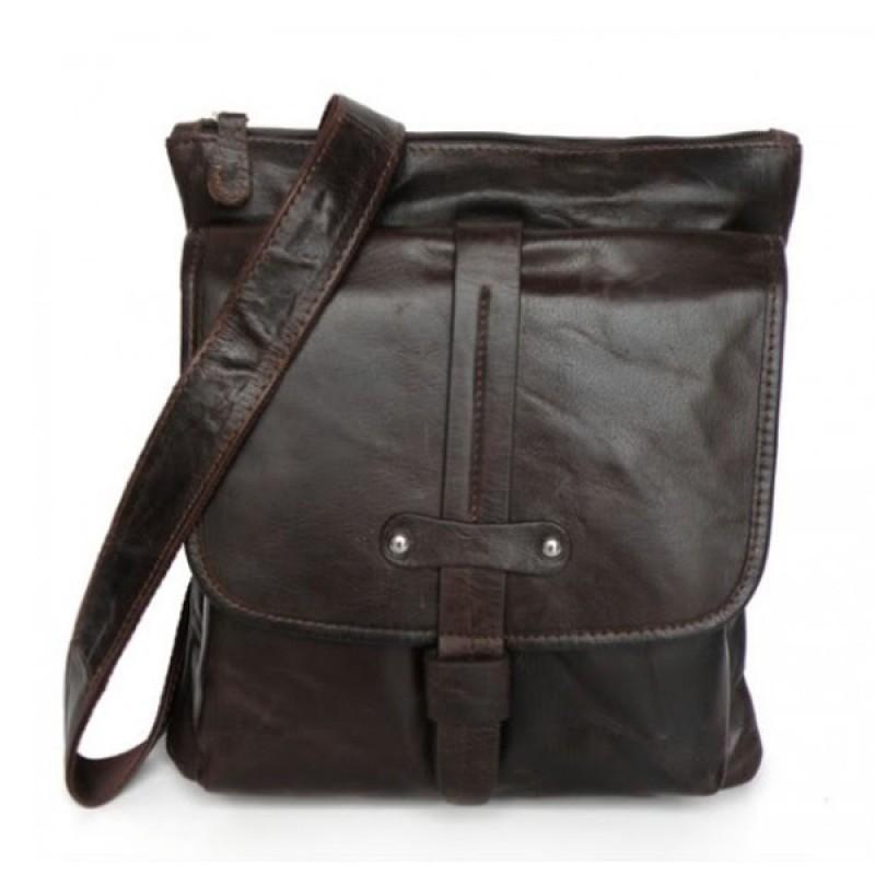 Кожаная мужская сумка через плечо DENGO