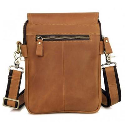 Мужская сумка через плечо из кожи DJO