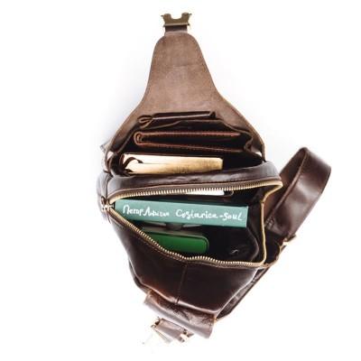 Мужская сумка через плечо из кожи HOWARD