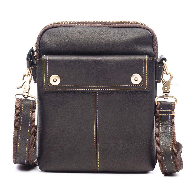 Мужская сумка через плечо из кожи POCHI