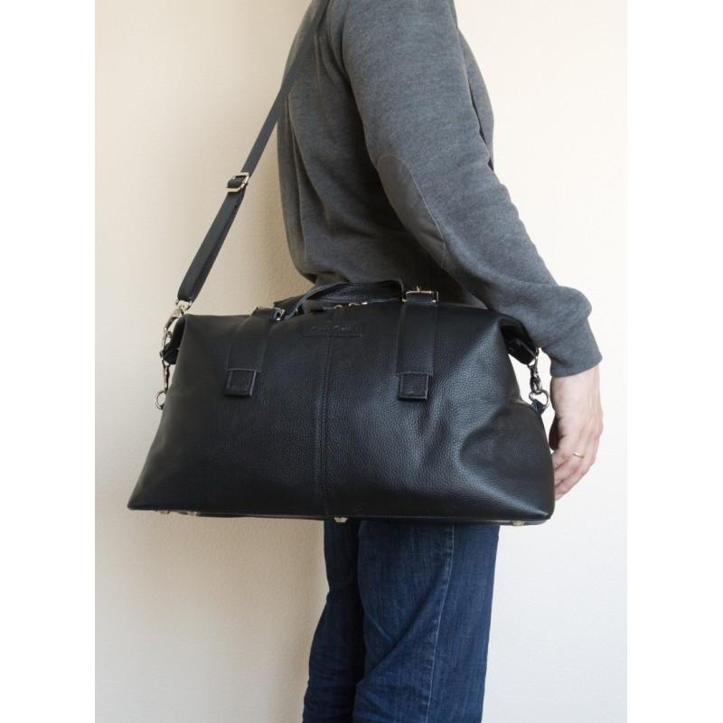 bcf73ff2f493 Кожаная дорожная сумка Ardenno black (арт. 4013-01) - купить в ...