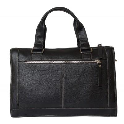 Кожаная сумка деловая Corezzo black (арт. 4010-01)