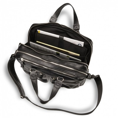 Вместительная деловая сумка BRIALDI Arce (Арчи) relief black
