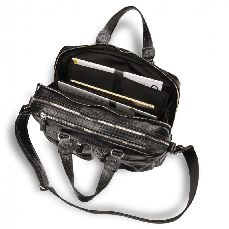 875f3bef7277 Вместительная деловая сумка BRIALDI Arce (Арчи) relief black ...
