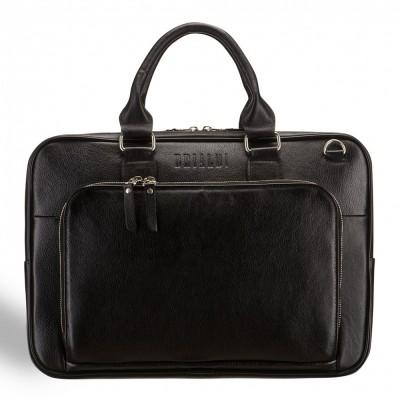 Деловая сумка SLIM-формата для документов BRIALDI Fairfaxe (Фэрфакс) black
