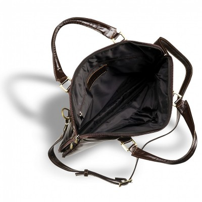 Деловая сумка SLIM-формата BRIALDI Ostin (Остин) shiny brown