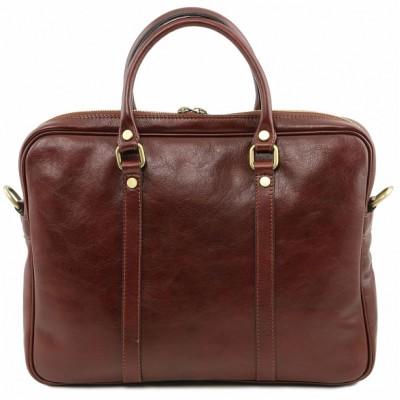 Мужская сумка из натуральной кожи PRATO (Коричневый)