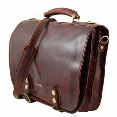 Мужской кожаный портфель CAPRI (Коричневый)