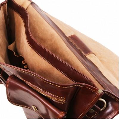 Мужской портфель из натуральной кожи MODENA (Коричневый)