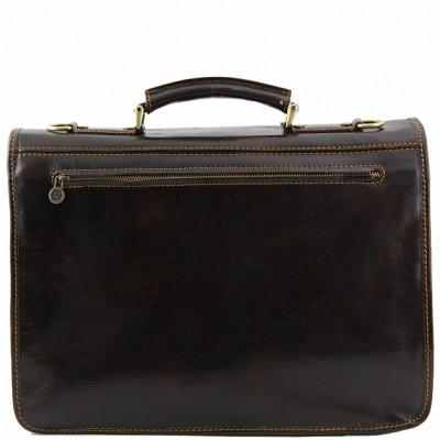 Кожаный портфель мужской MODENA (Темно-коричневый)