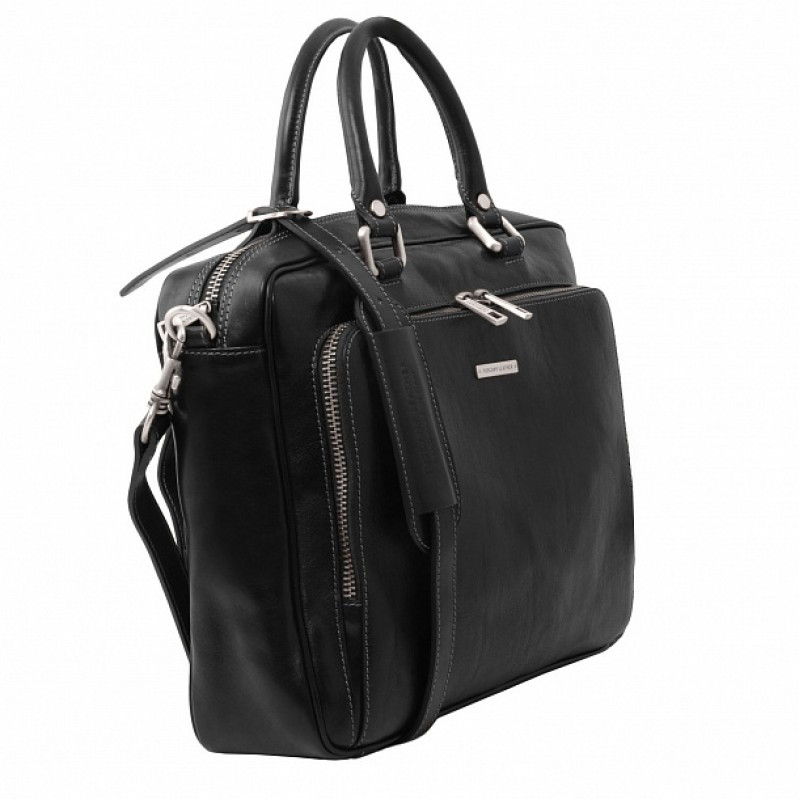 770a6dde3b8a Кожаный портфель мужской Pisa (Черный) - купить в Москве с доставкой ...