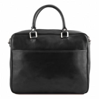 Кожаный портфель мужской Pisa (Черный)